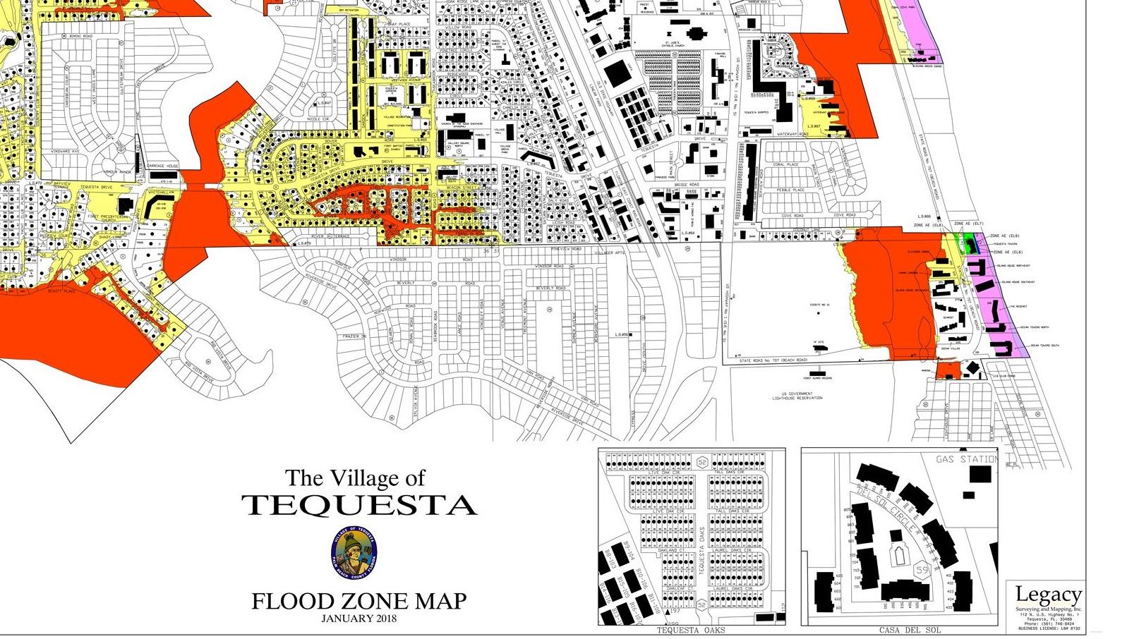 Tequesta Flood Zone Map