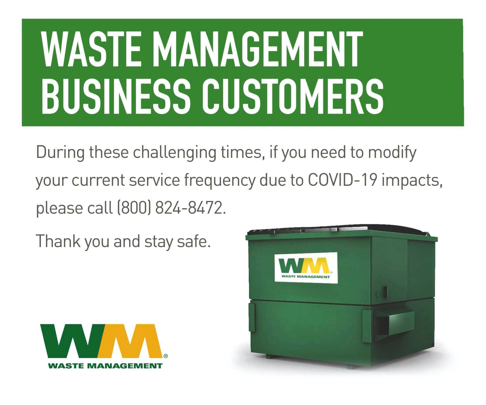 Waste Management Business Customers