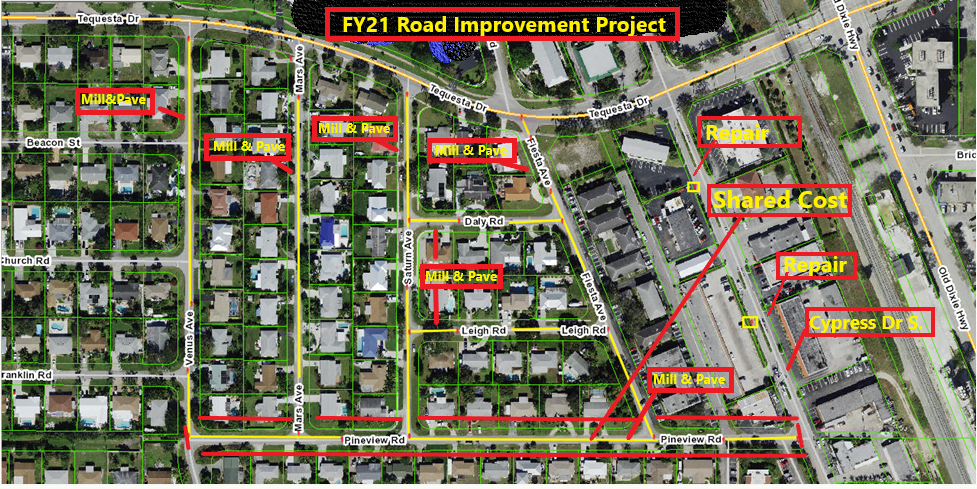 ROAD WORK AREA MAP FY 2021