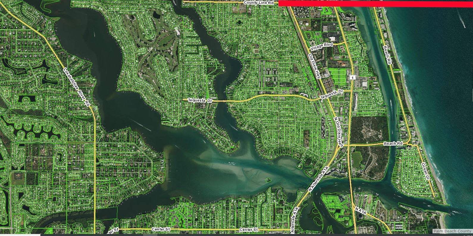 Palm Beach County Waterway Boundary