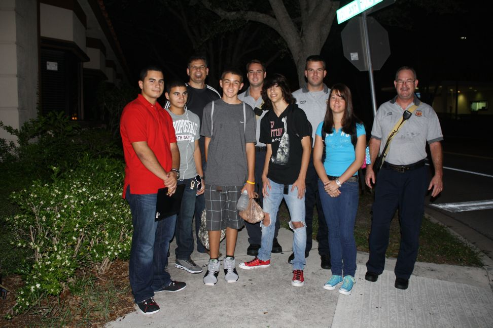 08-22-2011 High School Stop with Fire.JPG